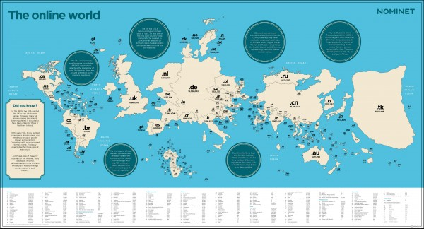 Domain Name Map of the World